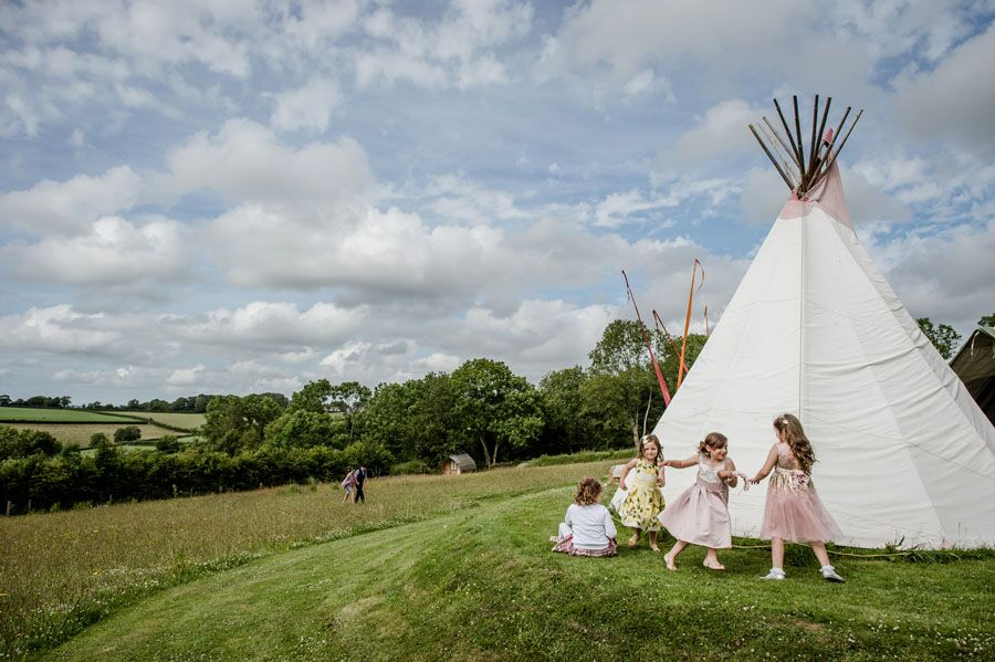 around the tipi