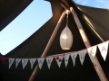 lights and bunting