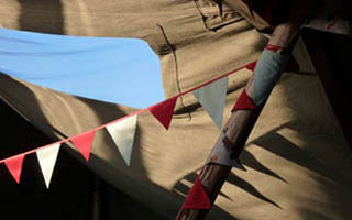 bunting in the tipi3