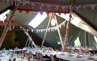 bunting in the tipi4