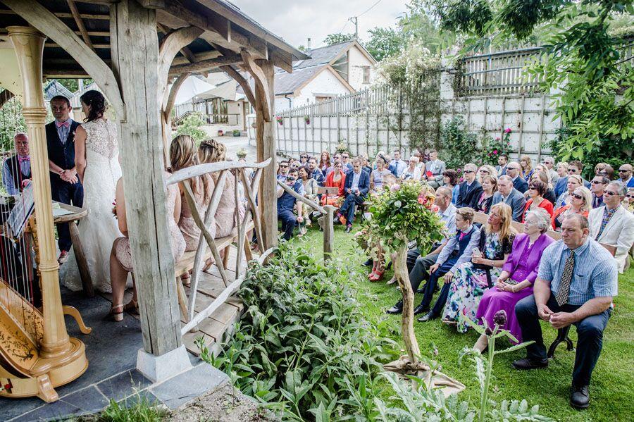 wedding in walled garden